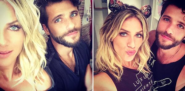 """O maridão aprovou a mudança, postou até foto no Instagram dele comentando sobre o """"novo cabelo"""" da mulher"""