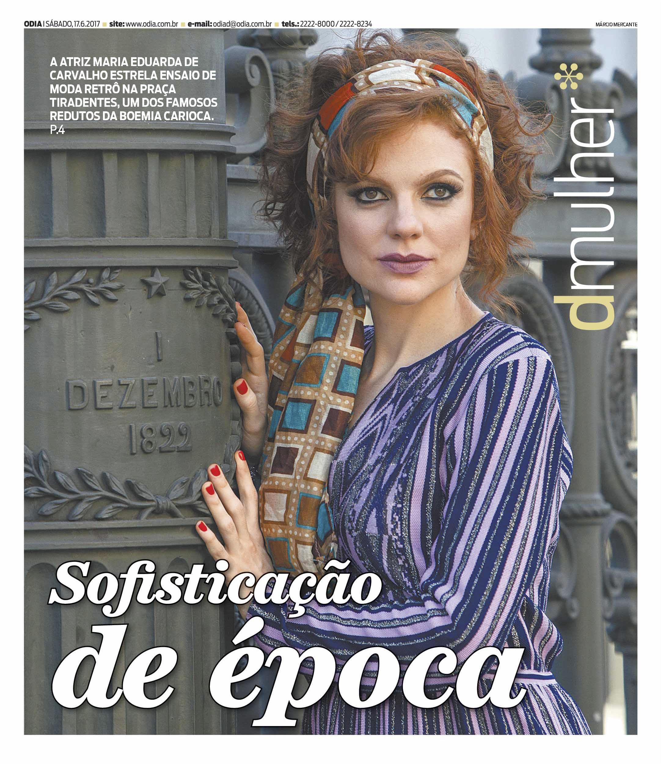 A maquiagem clássica de Maria Eduarda de Carvalho